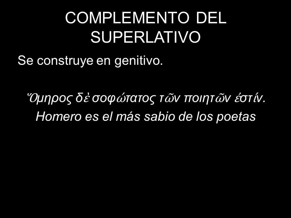 COMPLEMENTO DEL SUPERLATIVO