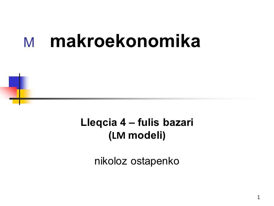 Lleqcia 4 – fulis bazari (LM modeli) nikoloz ostapenko