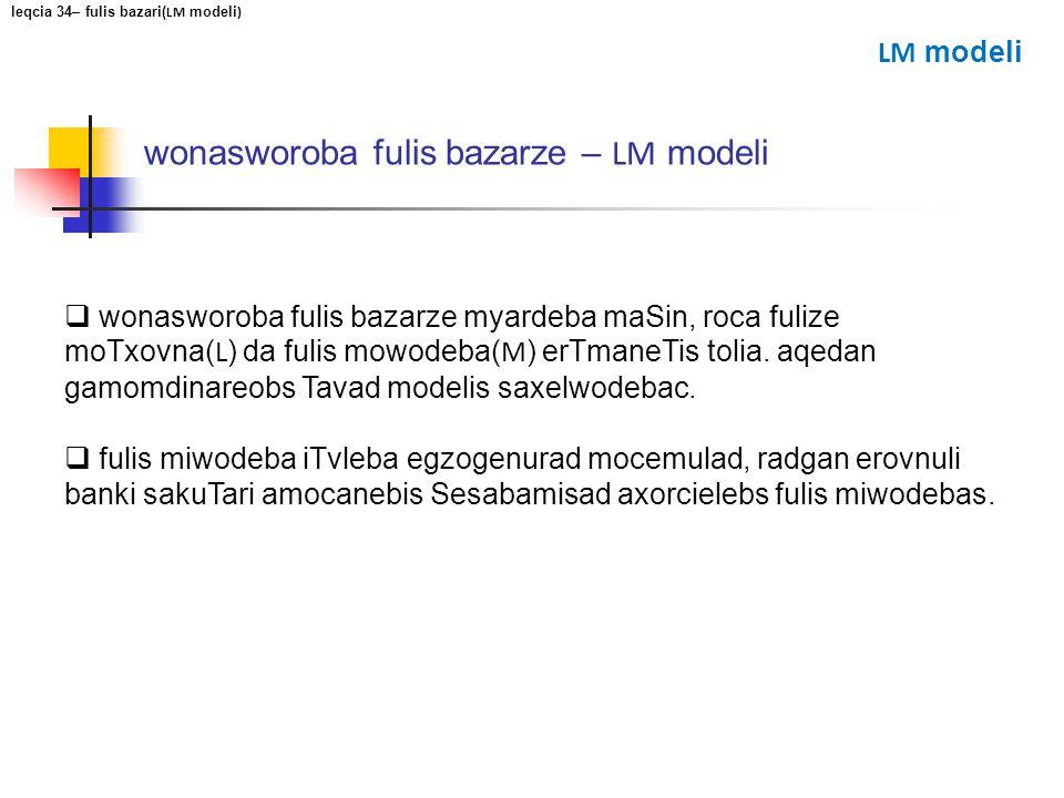 wonasworoba fulis bazarze – LM modeli