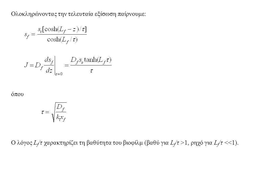 Ολοκληρώνοντας την τελευταία εξίσωση παίρνουμε: