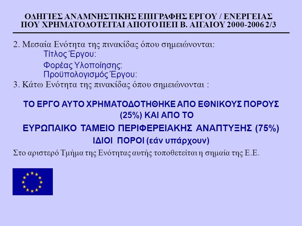 ΕΥΡΩΠΑΙΚΟ ΤΑΜΕΙΟ ΠΕΡΙΦΕΡΕΙΑΚΗΣ ΑΝΑΠΤΥΞΗΣ (75%)