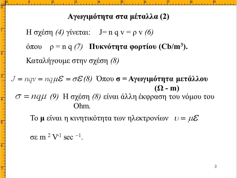 Αγωγιμότητα στα μέταλλα (2)