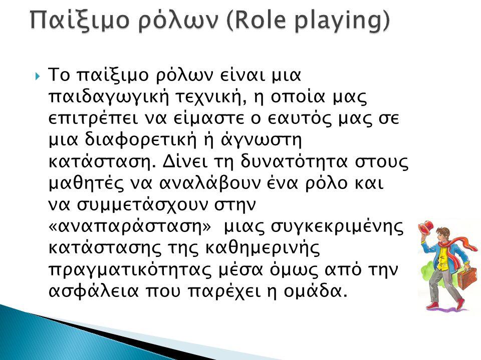 Παίξιμο ρόλων (Role playing)