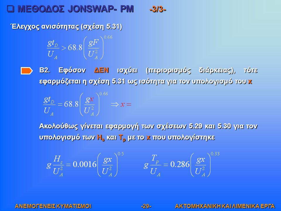 ΜΕΘΟΔΟΣ JONSWAP- PM -3/3-