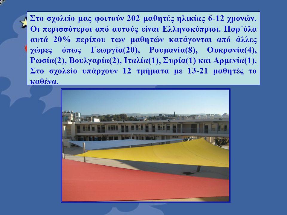 Στο σχολείο μας φοιτούν 202 μαθητές ηλικίας 6-12 χρονών