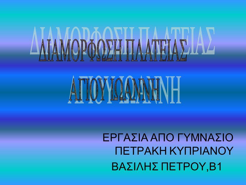 ΕΡΓΑΣΙΑ ΑΠΟ ΓΥΜΝΑΣΙΟ ΠΕΤΡΑΚΗ ΚΥΠΡΙΑΝΟΥ ΒΑΣΙΛΗΣ ΠΕΤΡΟΥ,Β1