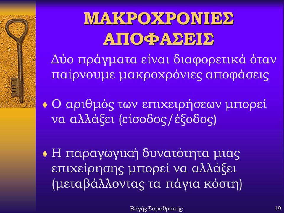 ΜΑΚΡΟΧΡΟΝΙΕΣ ΑΠΟΦΑΣΕΙΣ