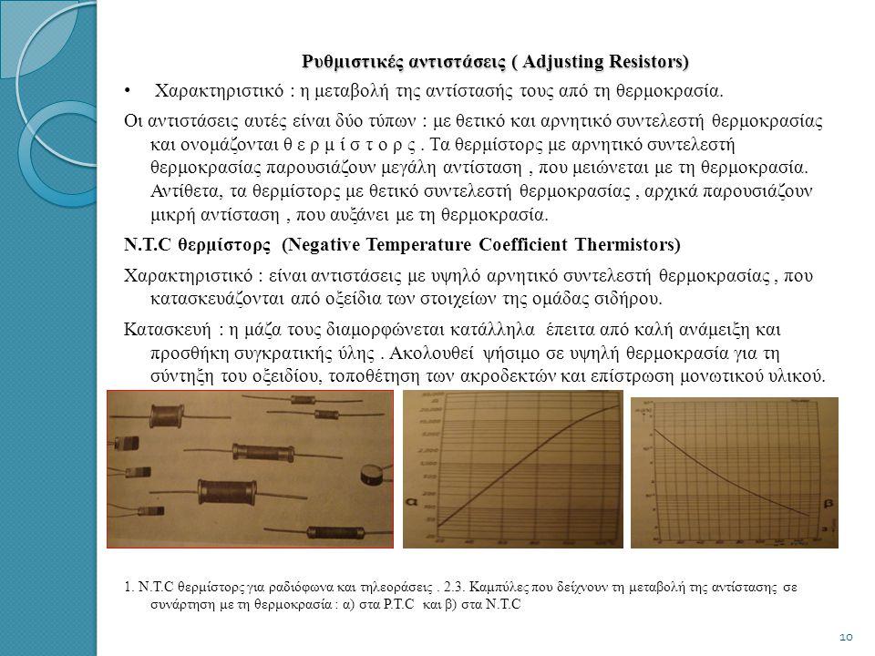 Ρυθμιστικές αντιστάσεις ( Adjusting Resistors)
