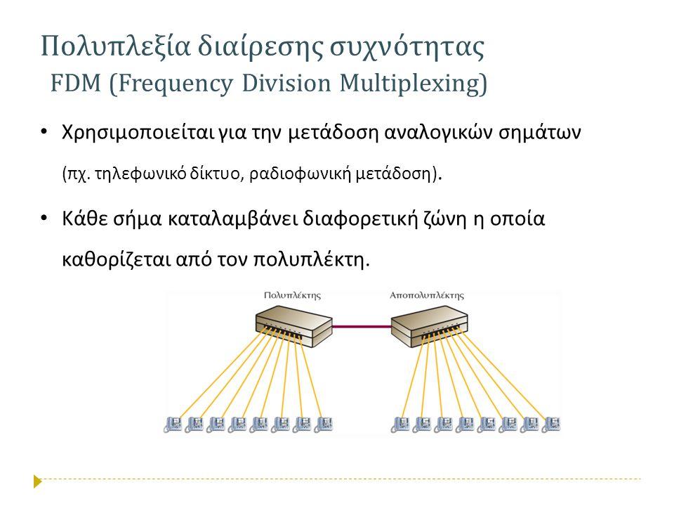 Πολυπλεξία διαίρεσης συχνότητας FDM (Frequency Division Multiplexing)