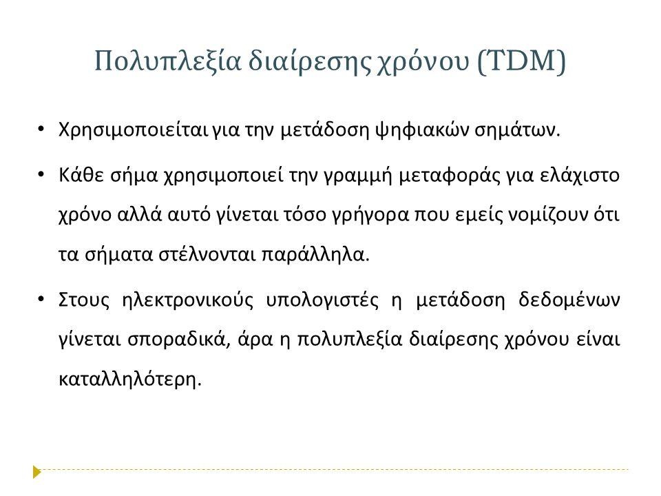 Πολυπλεξία διαίρεσης χρόνου (TDM)