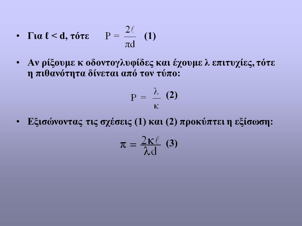 Εξισώνοντας τις σχέσεις (1) και (2) προκύπτει η εξίσωση: (3)