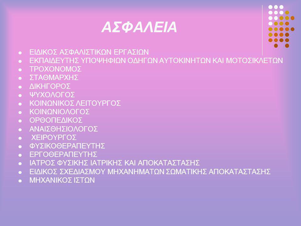 ΑΣΦΑΛΕΙΑ ΕΙΔΙΚΟΣ ΑΣΦΑΛΙΣΤΙΚΩΝ ΕΡΓΑΣΙΩΝ