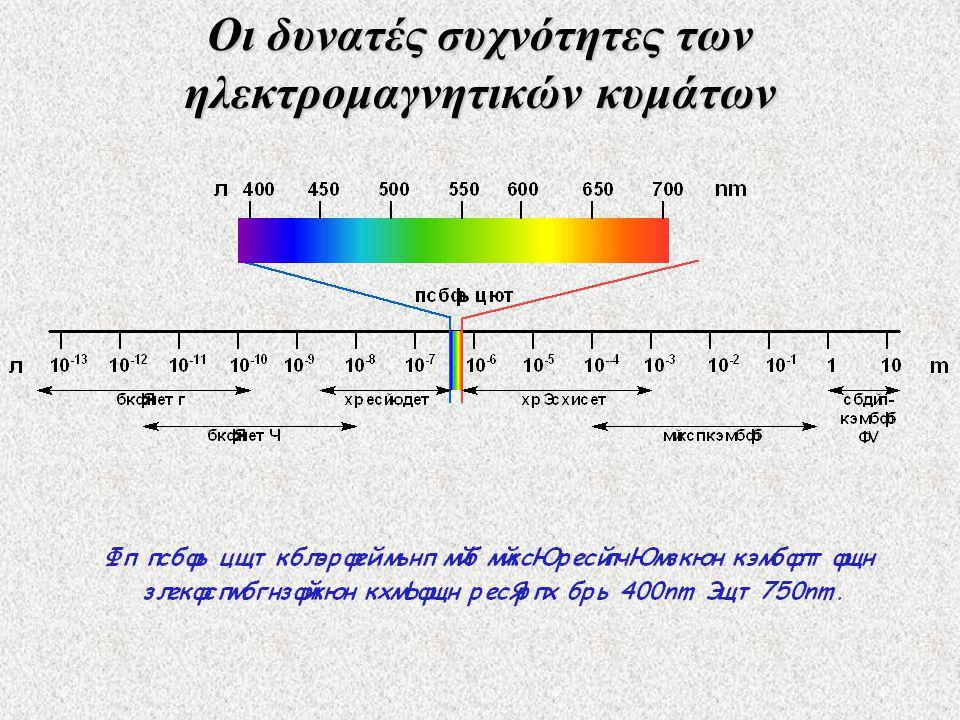 Οι δυνατές συχνότητες των ηλεκτρομαγνητικών κυμάτων