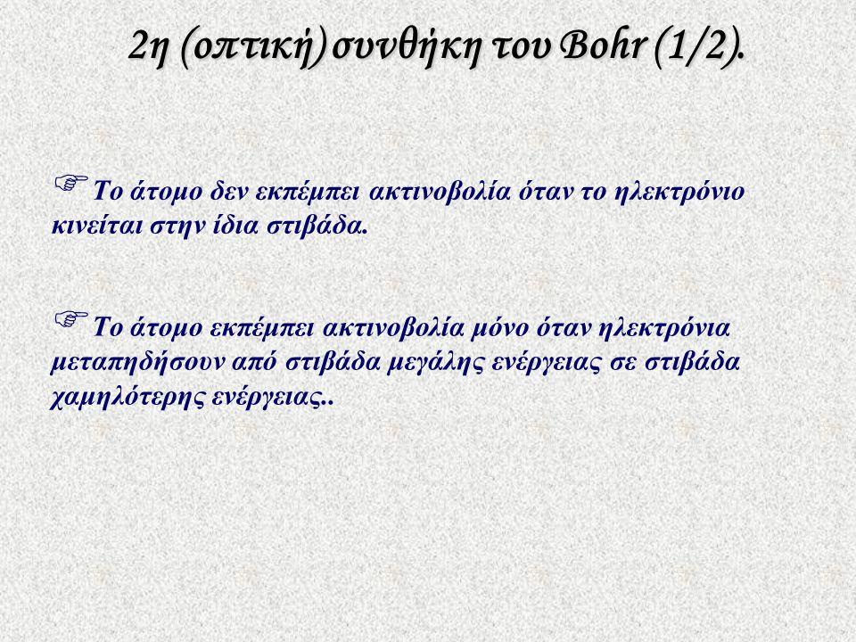 2η (οπτική) συνθήκη του Bohr (1/2).