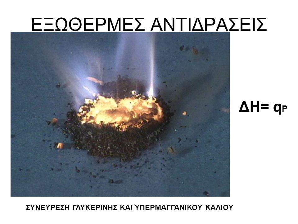 ΕΞΩΘΕΡΜΕΣ ΑΝΤΙΔΡΑΣΕΙΣ