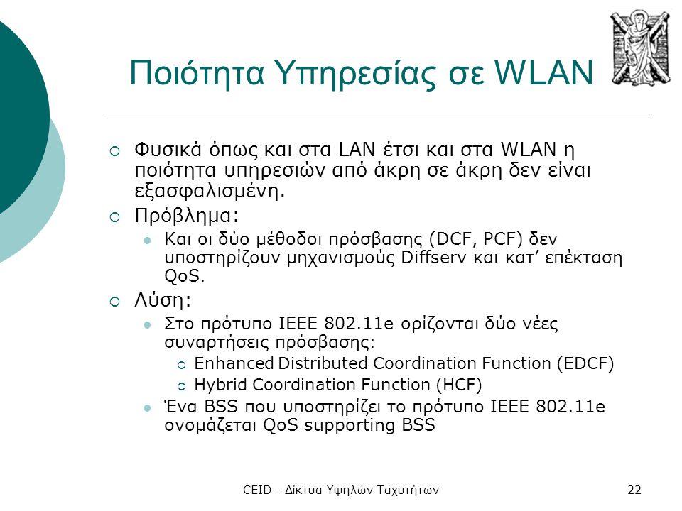 Ποιότητα Υπηρεσίας σε WLAN