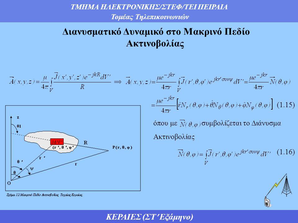 Διανυσματικό Δυναμικό στο Μακρινό Πεδίο Ακτινοβολίας
