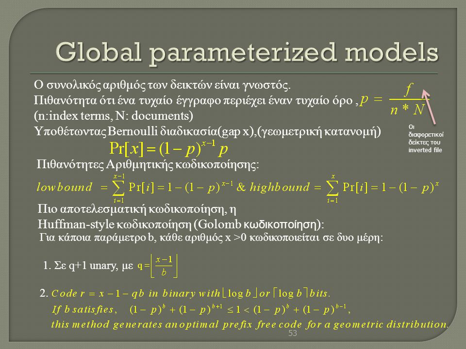 Global parameterized models