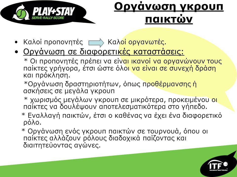 Οργάνωση γκρουπ παικτών