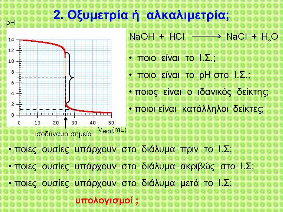 2. Οξυμετρία ή αλκαλιμετρία;