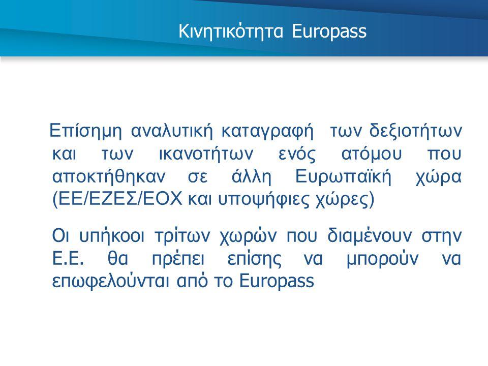Κινητικότητα Europass