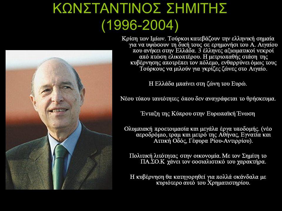 ΚΩΝΣΤΑΝΤΙΝΟΣ ΣΗΜΙΤΗΣ (1996-2004)