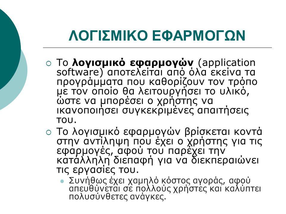 ΛΟΓΙΣΜΙΚΟ ΕΦΑΡΜΟΓΩΝ