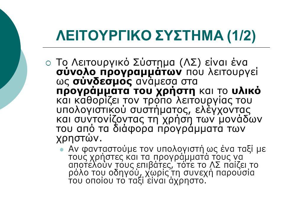 ΛΕΙΤΟΥΡΓΙΚΟ ΣΥΣΤΗΜΑ (1/2)