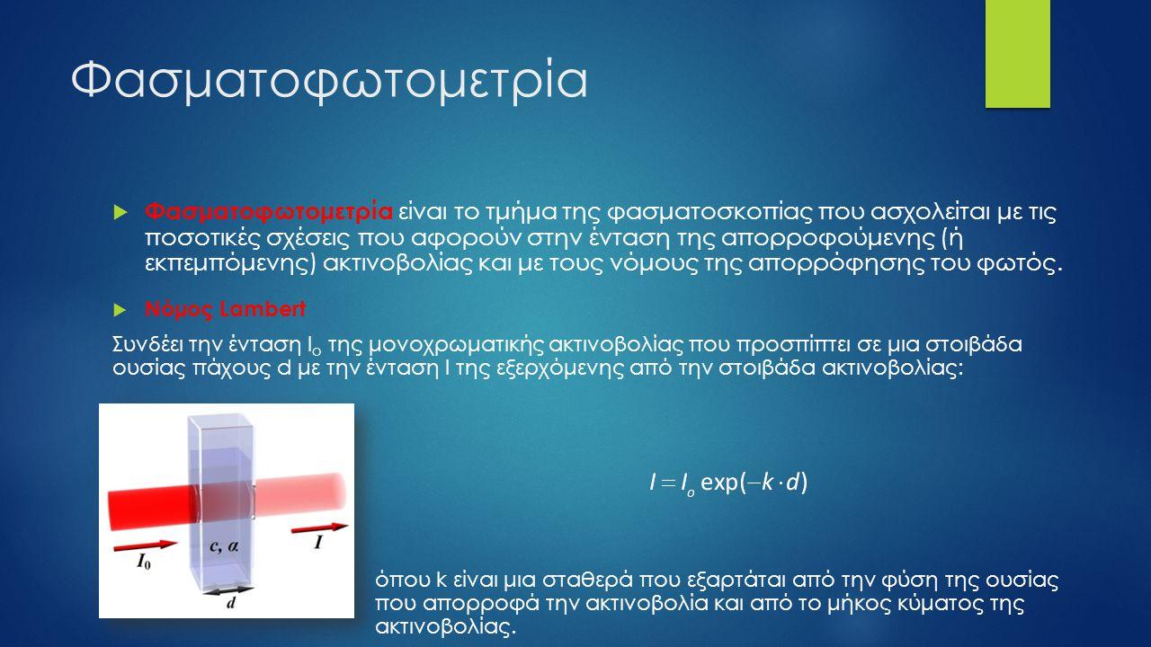 Φασματοφωτομετρία