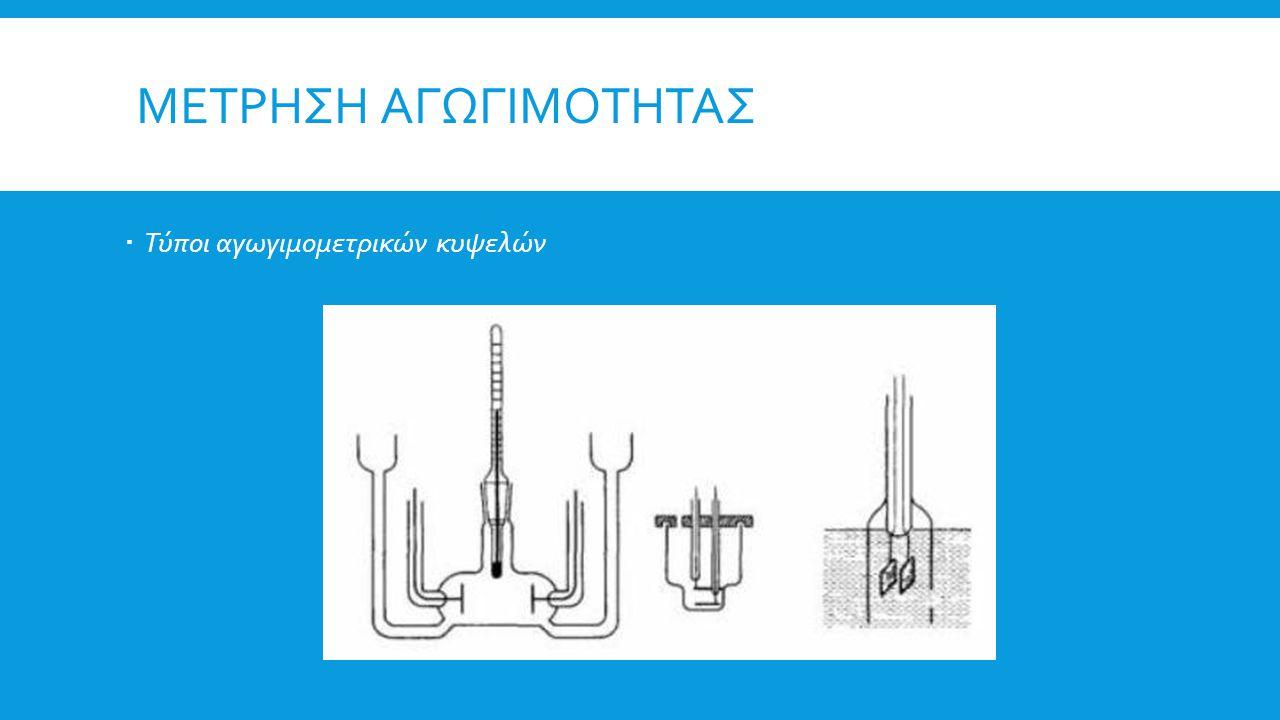 Μετρηση αγωγιμοτητας Τύποι αγωγιμομετρικών κυψελών
