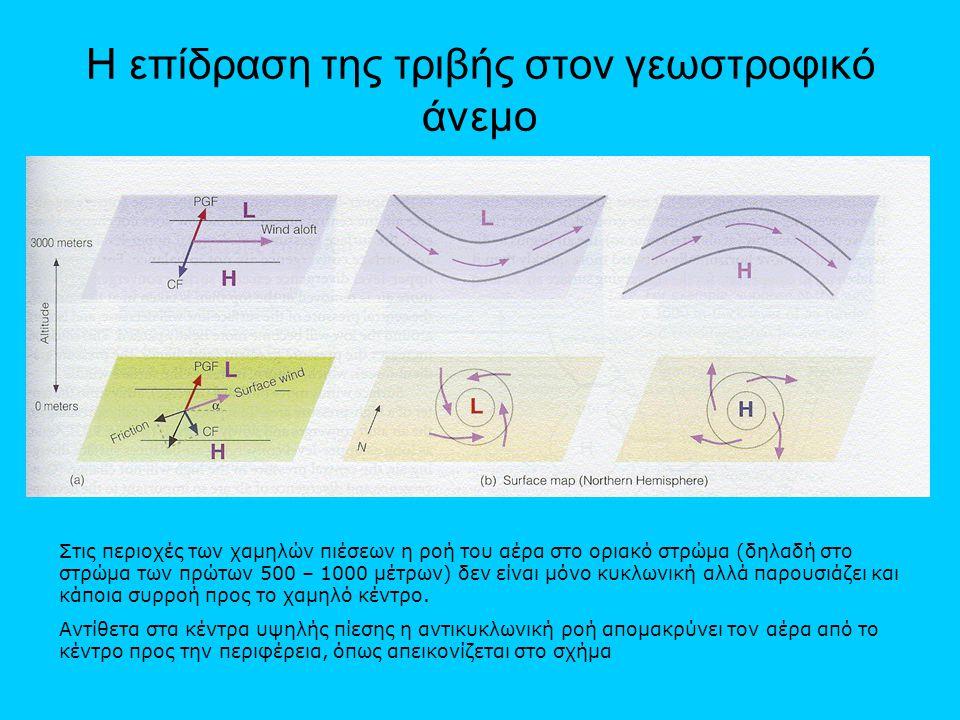 Η επίδραση της τριβής στον γεωστροφικό άνεμο