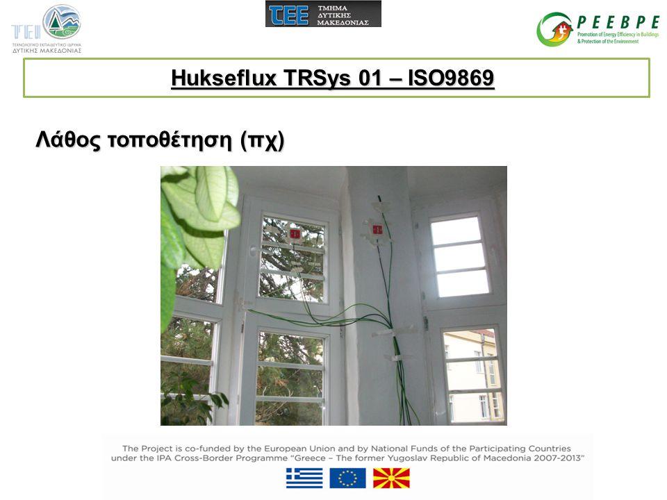 Hukseflux TRSys 01 – ISO9869 Λάθος τοποθέτηση (πχ)