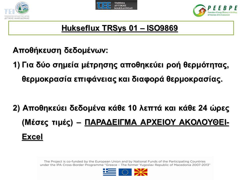 Hukseflux TRSys 01 – ISO9869 Αποθήκευση δεδομένων: