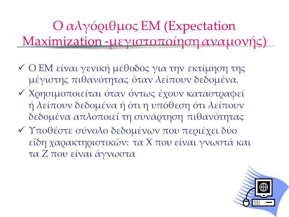 Ο αλγόριθμος ΕΜ (Expectation Maximization -μεγιστοποίηση αναμονής)
