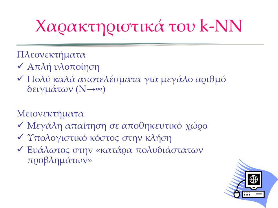 Χαρακτηριστικά του k-NN