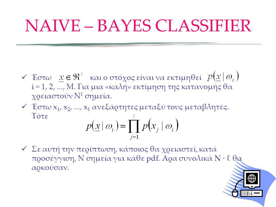 NAIVE – BAYES CLASSIFIER
