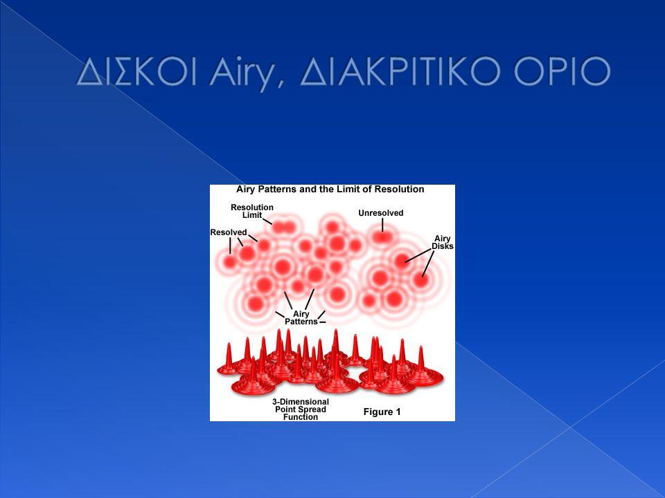 ΔΙΣΚΟΙ Airy, ΔΙΑΚΡΙΤΙΚΟ ΟΡΙΟ