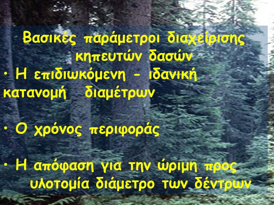 Βασικές παράμετροι διαχείρισης κηπευτών δασών