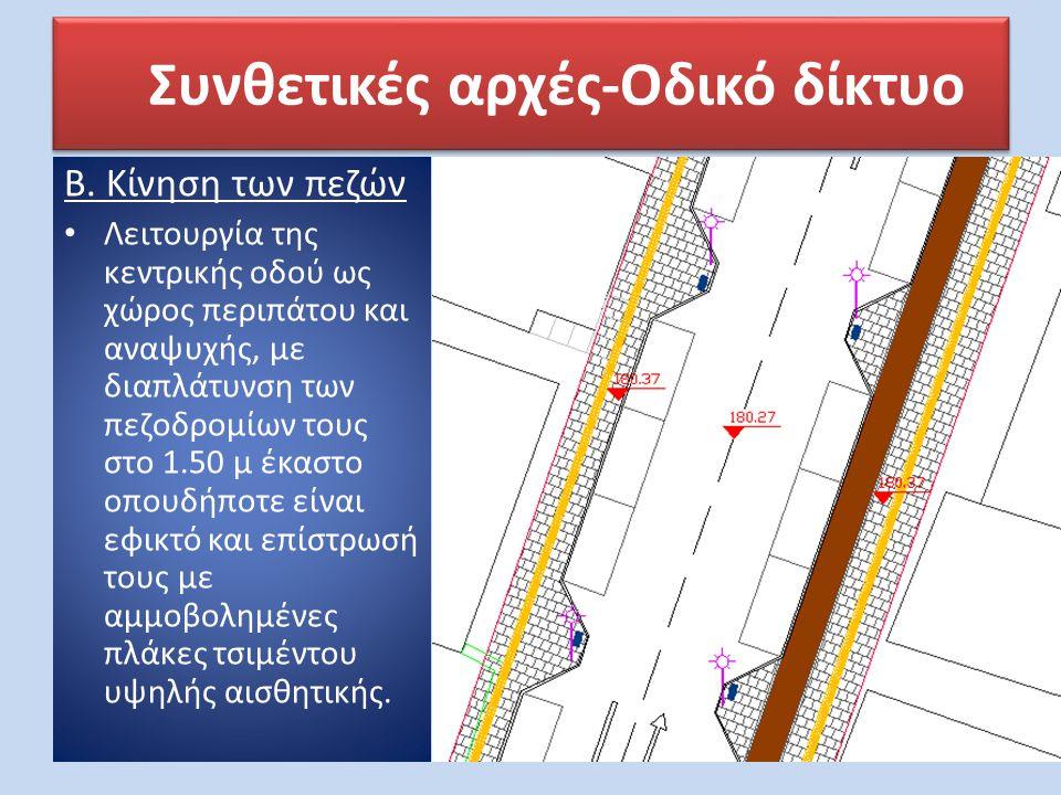 Συνθετικές αρχές-Οδικό δίκτυο