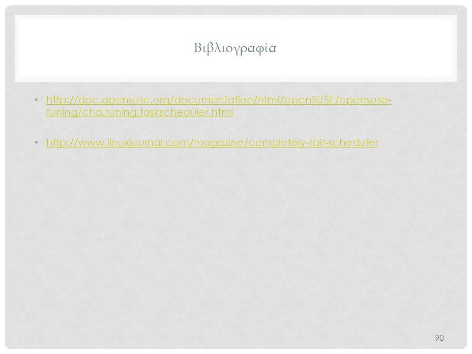 Βιβλιογραφία http://doc.opensuse.org/documentation/html/openSUSE/opensuse-tuning/cha.tuning.taskscheduler.html.