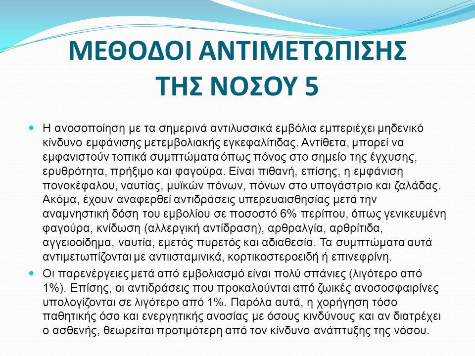 ΜΕΘΟΔΟΙ ΑΝΤΙΜΕΤΩΠΙΣΗΣ ΤΗΣ ΝΟΣΟΥ 5