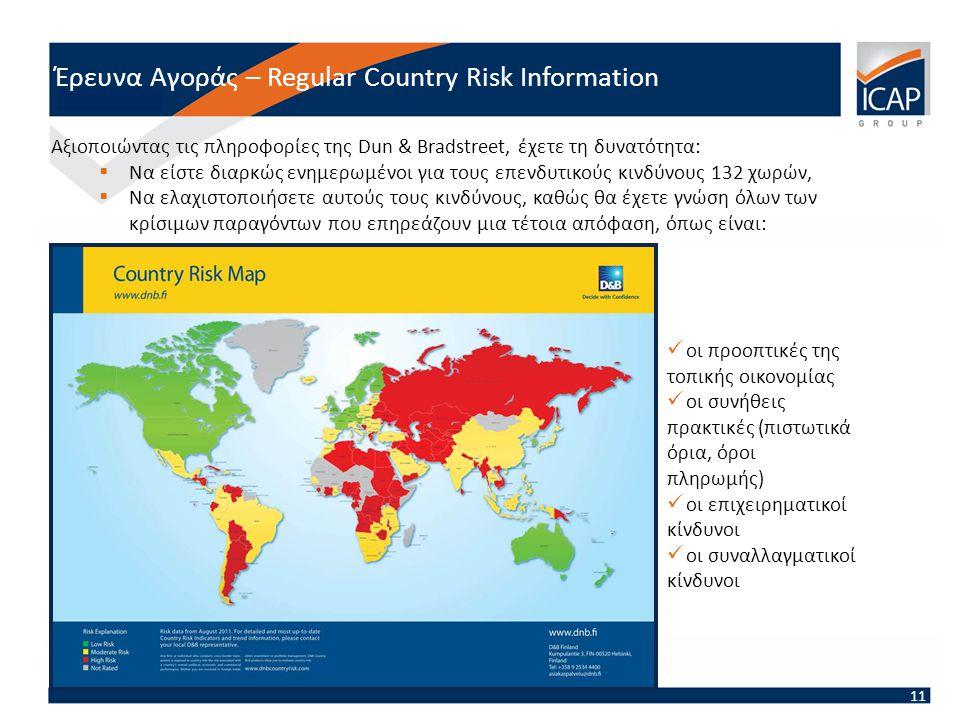Έρευνα Αγοράς – Regular Country Risk Information