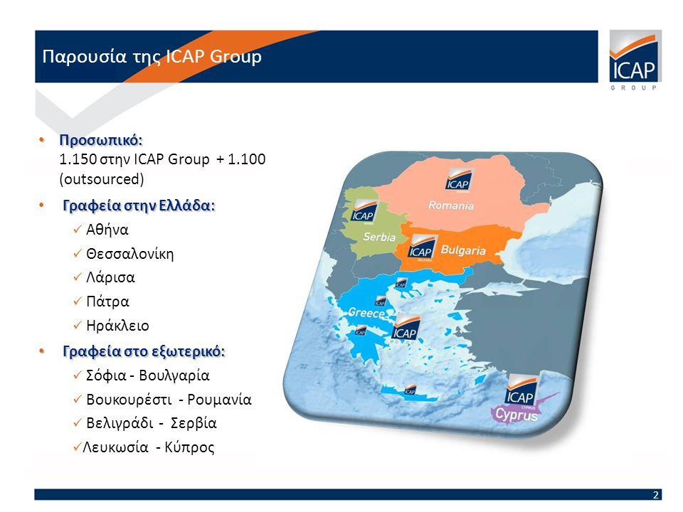 Παρουσία της ICAP Group