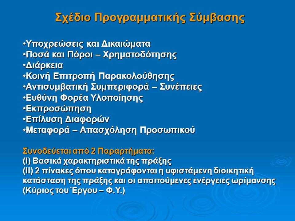 Σχέδιο Προγραμματικής Σύμβασης