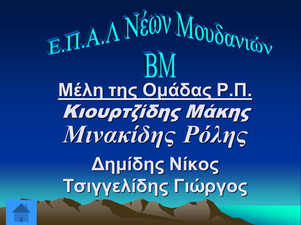 Ε.Π.Α.Λ Νέων Μουδανιών ΒΜ. Μέλη της Ομάδας Ρ.Π.