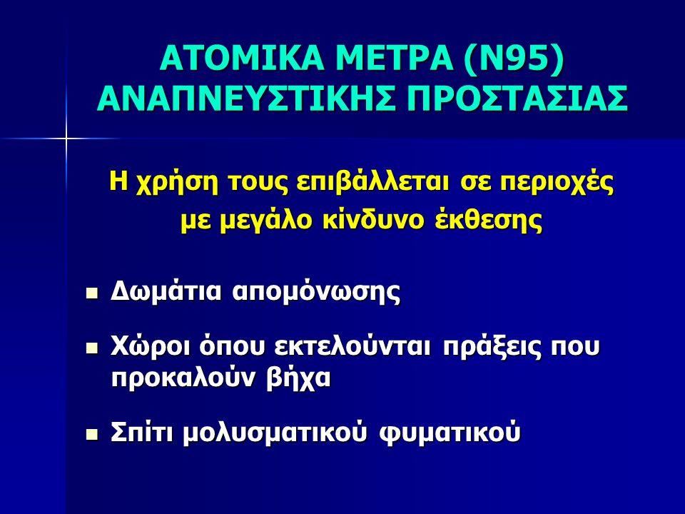ΑΤΟΜΙΚΑ ΜΕΤΡΑ (Ν95) ΑΝΑΠΝΕΥΣΤΙΚΗΣ ΠΡΟΣΤΑΣΙΑΣ