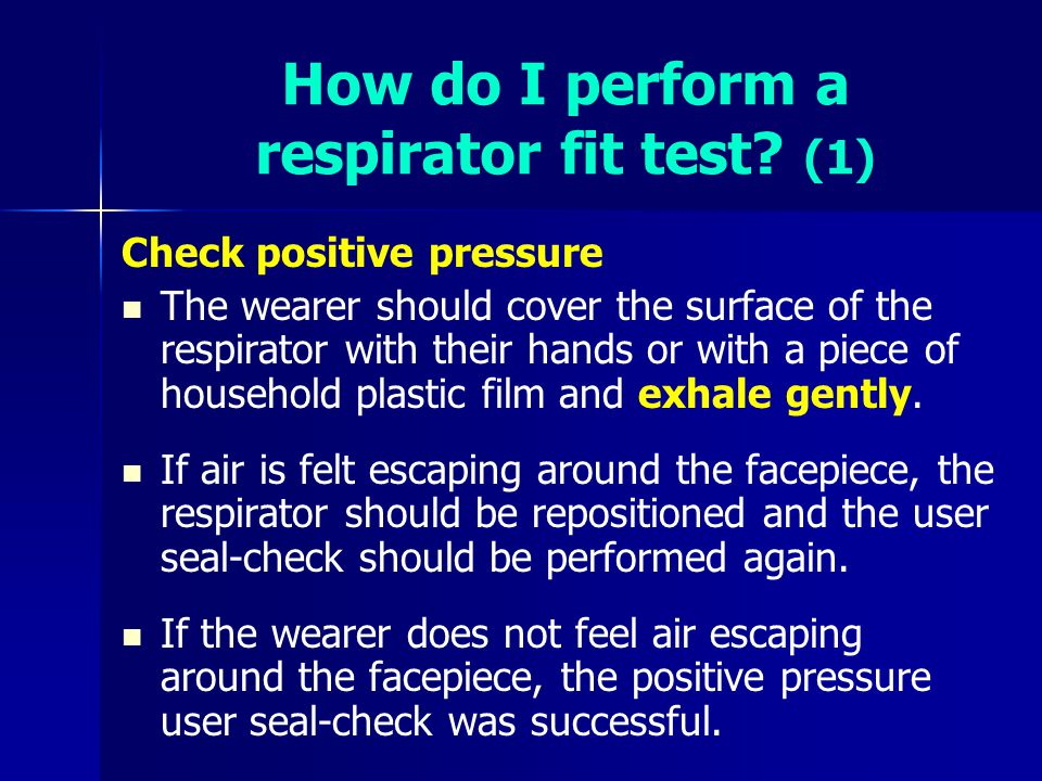 How do I perform a respirator fit test (1)