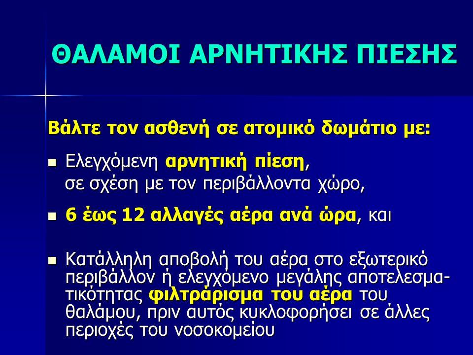 ΘΑΛΑΜΟΙ ΑΡΝΗΤΙΚΗΣ ΠΙΕΣΗΣ