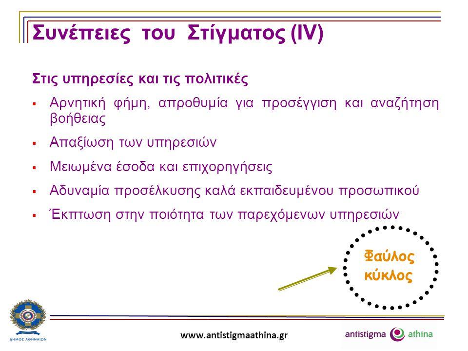 Συνέπειες του Στίγματος (ΙV)