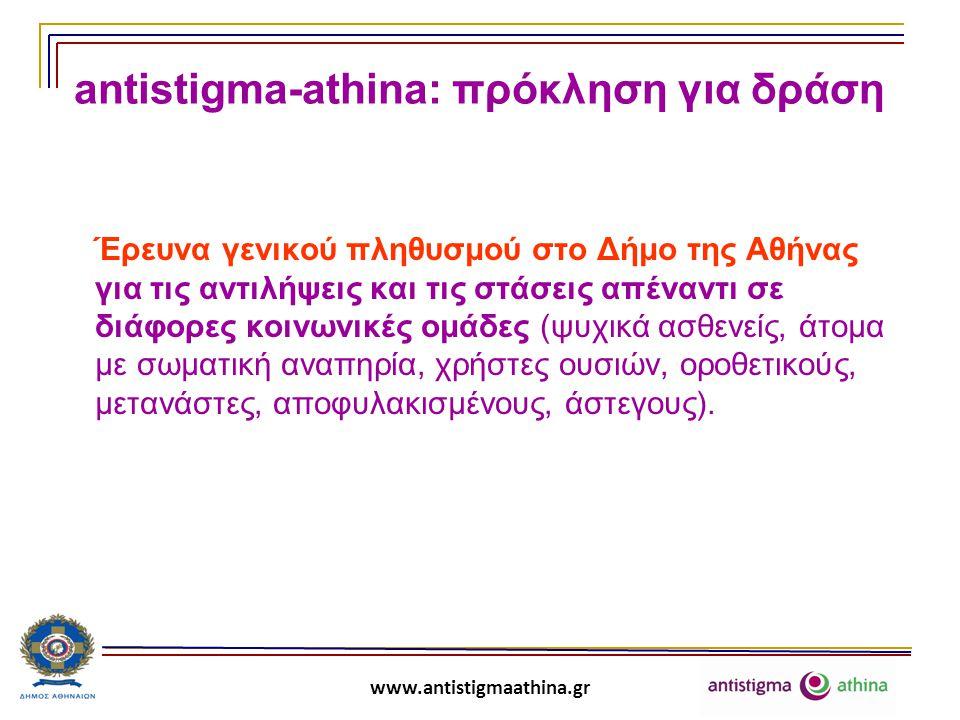 antistigma-athina: πρόκληση για δράση